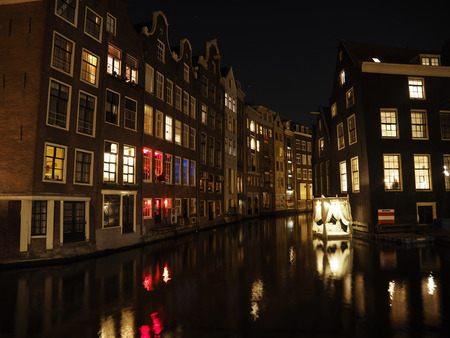 Old Amsterdam by night photo