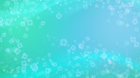 Turquoise abstract background with smooth, soft   lines.  Concept for banner or poster.