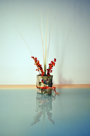 Ornamental Grass With Balls In A Glass With Red Decoration On Delectable Decorative Grass Balls