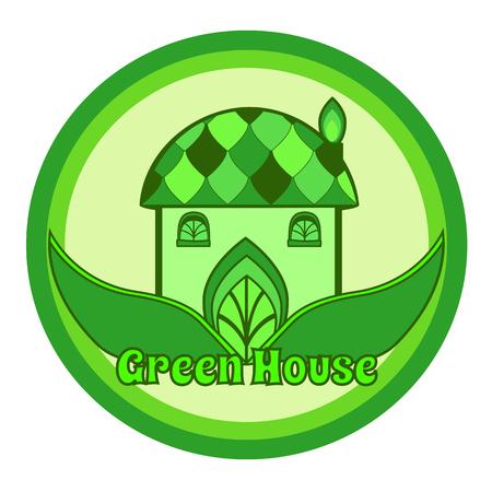 Vector Illustration of an Environmentally Friendly House