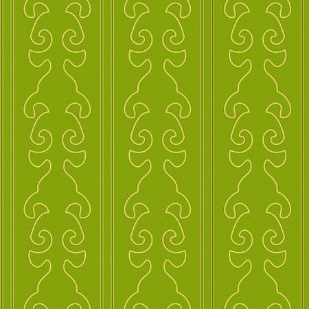 Vector Illustratie van Victoriaanse Wallpaper-stijl Naadloze Patroon