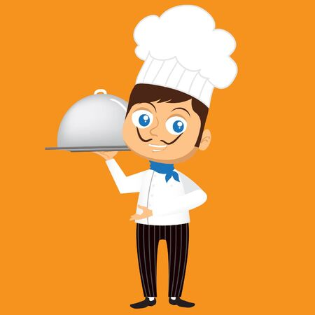 creation kit: A Cute Chef Mascot. Made in the Flat Design style
