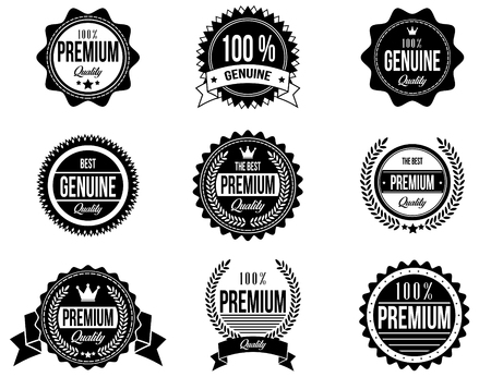 coreldraw: Clean and Modern Badges with a different style design and you can use it for any kind of your logo or another works. Illustration