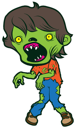 holiday movies: cartoon monster halloween undead classical dead deadly human fright zombie Illustration