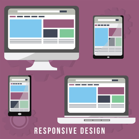 Business Concept for Responsive Design. the design that can change and adapt, based from the platform and gadget.