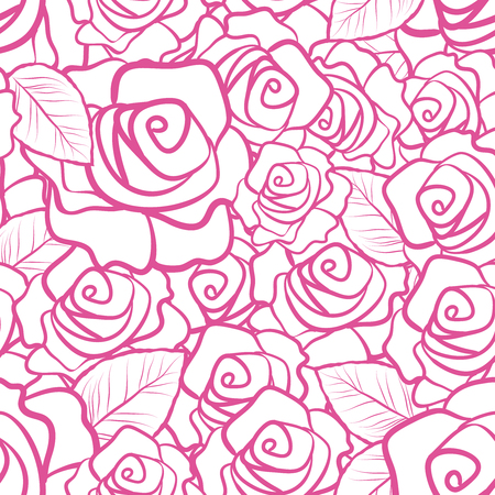 Seamless Pattern Summer Floral Design With Beautiful Flower and other vegetation and plantation