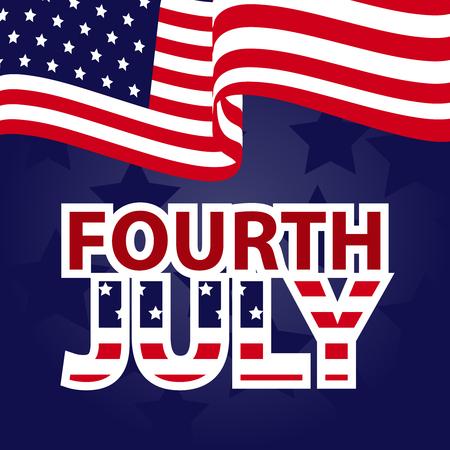 Patriotic Banner Design for Independence Day Design elements