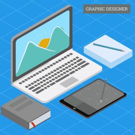 Ux User Experience Development Design Usability Improve. Isometric People GUI UI Interface experiment design improve UX 3D Concept Team project guide build Web app Computer Graphic Vector illustration - Vector Иллюстрация