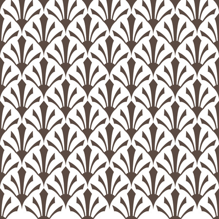 Art Deco pattern is known for its precise and clear lines, geometric shapes and decoration – these patterns are implemented on surface or attached to a structure. ... This later period of the style is called Streamline Moderne and it's also characterized by rich colors, bold geometric shapes and lavish ornamentation