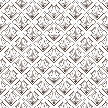 Art Deco pattern is known for its precise and clear lines, geometric shapes and decoration – these patterns are implemented on surface or attached to a structure. ... This later period of the style is called Streamline Moderne and its also characterized by rich colors, bold geometric shapes and lavish ornamentation