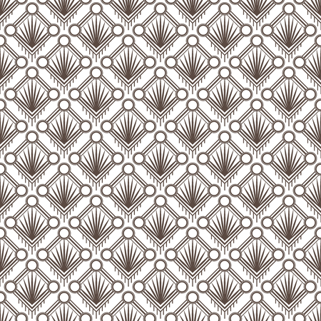 Art Deco pattern is known for its precise and clear lines, geometric shapes and decoration – these patterns are implemented on surface or attached to a structure. ... This later period of the style is called Streamline Moderne and it's also characterized by rich colors, bold geometric shapes and lavish ornamentation Imagens - 126561565