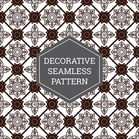 Batik Seamless Decorative Pattern Background