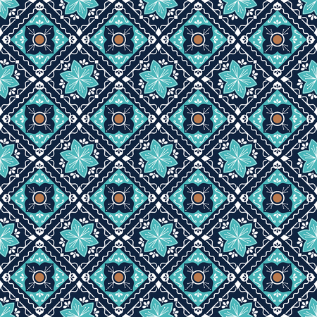 Morocco Mexican Seamless Decorative Pattern Background