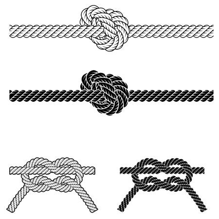 Cadre de bordure de corde vintage en vecteur