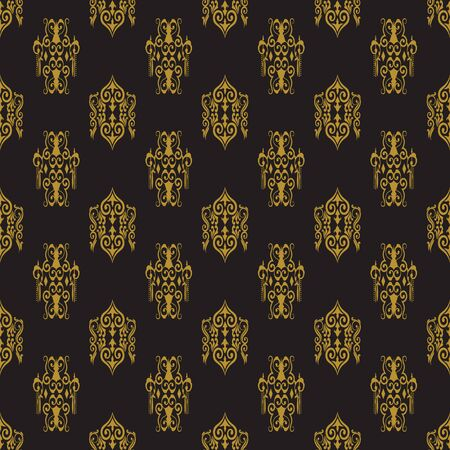 Damask seamless pattern background Royalty Free Vector Illustration