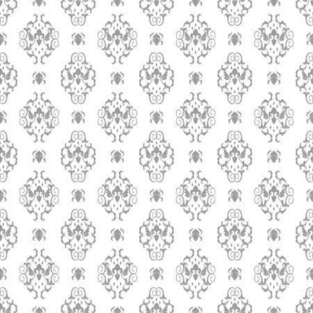 Damask seamless pattern background Royalty Free Vector Vettoriali