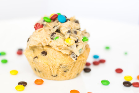 Chocolate Chip Peanut Butter Cupcake with Cookie Dough Frosting