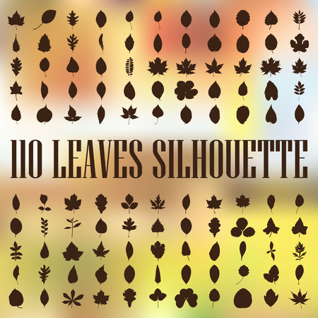 Leaves silhouette collection Vector