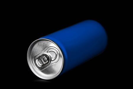 aluminum can on black background Reklamní fotografie
