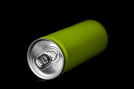 aluminum can: aluminum can on black background Stock Photo