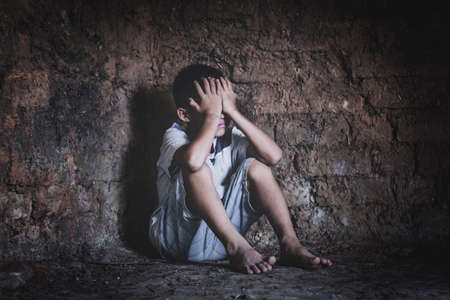 trafficking concept, human rights violations, children prison and prisoner concept, Stock Photo