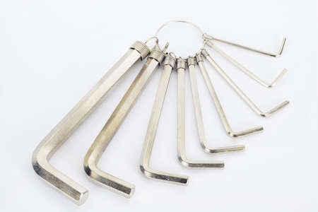 hex: Hex wrench tool white background  Stock Photo