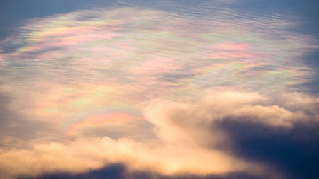 Sky in rainbow colors. photo