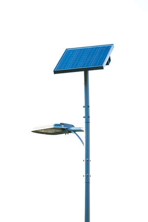 Solar cell with lamp. photo