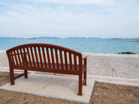bench at seaside. photo
