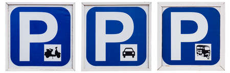 Vehicle parking sign. photo