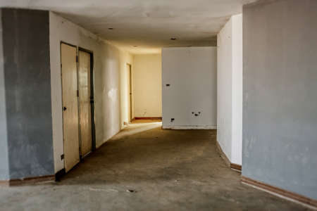 forlorn: Image Of Damaged And Abandoned In Residential Building. Stock Photo