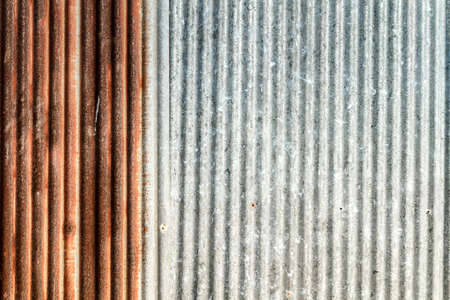 meterial: Image Of Surface Zinc Thin Sheets Old Rusty Meterial. Stock Photo