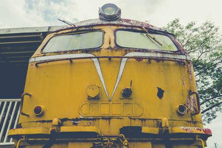 Abandoned Train Bogie Rusty At Kantang In Trang Thailand.