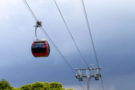 Hat Yai Cable Car Is The First Cable Car In Thailand. Stock Photo