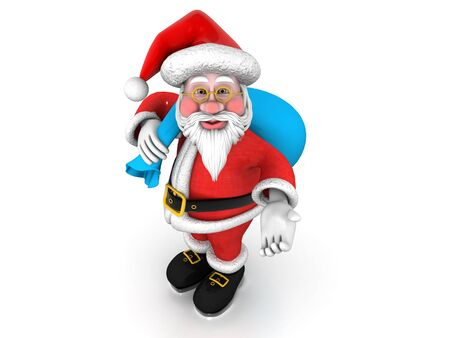 """""""Happy Santa """", can be used in business, personal, charitable and educational design projects: it may be used in web design, printed media, advertising, book covers and pages, music artwork, software applications and much more."""