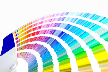 Color palette, Sample color catalog, Rainbow background Stock fotó