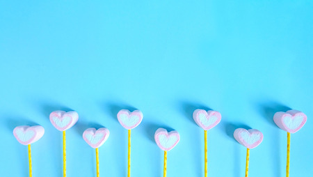 Cute marshmallow background, Heart marshmallow background