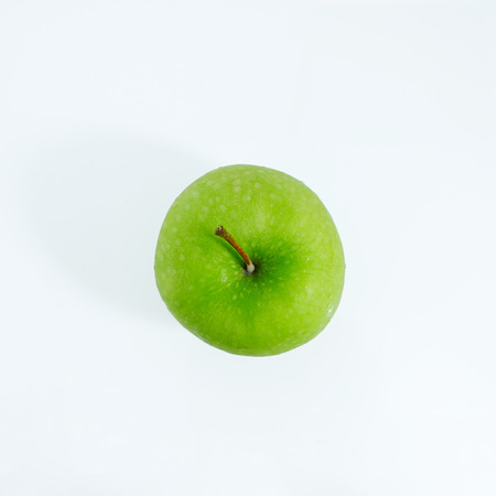 Green apple on white background, Green apple isolated, Fruit on white background Banque d'images - 122393506