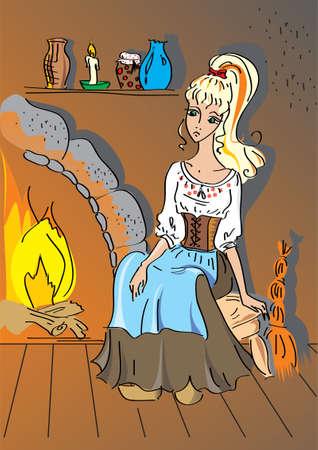 The maid, Cinderella Vector
