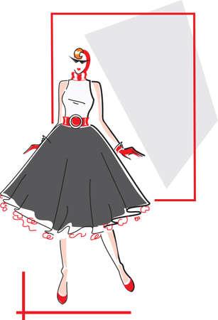 Elegant fashion woman Vector