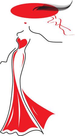 Elegant fashion woman Illustration