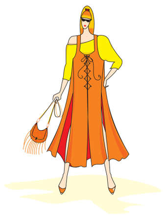 elegant vector: Elegant vector fashion woman
