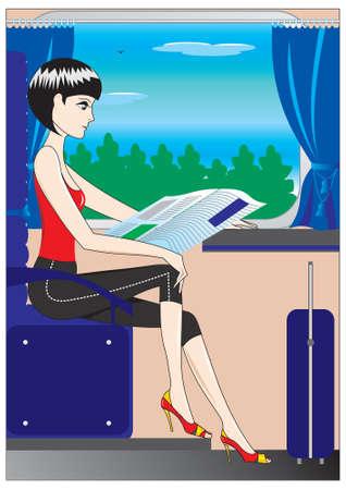 people traveling: in transit