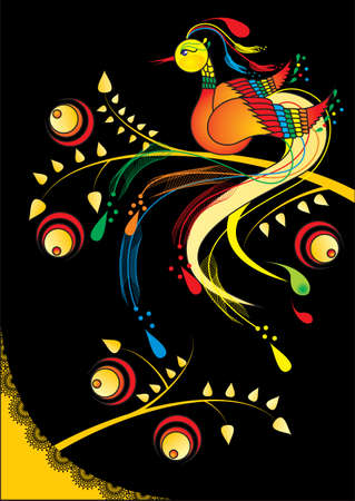phoenix bird: Fairy beautiful bird Illustration