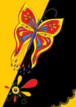 Butterfly poster Vector