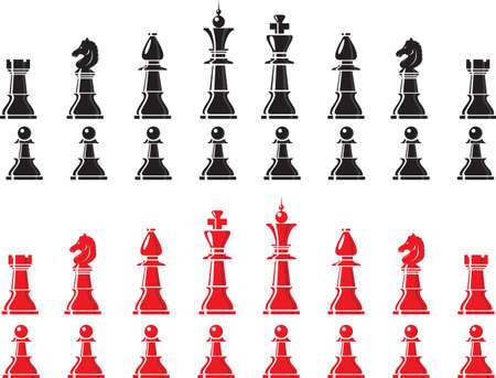 chess move: chess pieces Illustration