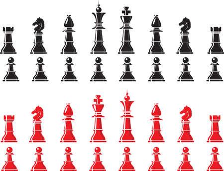 chess knight: piezas de ajedrez
