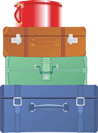 vintage suitcases and bags Stock Vector - 9875141