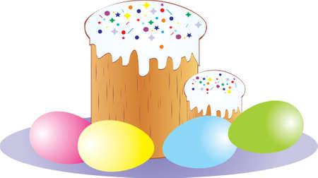 paskha: Easter cake Illustration