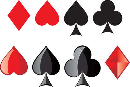 Playing Cards, card suit Vector